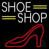 White Shoe Shop Neon Sign