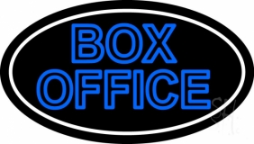 Blue Double Stroke Box Office Neon Sign