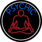 Blue Psychic Logo With Border Neon Sign