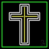 Cross With Border Neon Sign