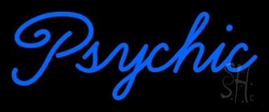 Cursive Blue Psychic Neon Sign