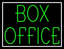 Green Box Office Neon Sign