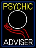Psychic Adviser Crystal Logo Neon Sign