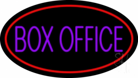 Purple Box Office Neon Sign