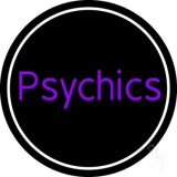 Purple Psychics With Circle Neon Sign
