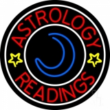 Red Astrology Readings White Border Neon Sign