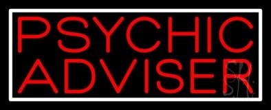 Red Psychic Advisor White Border Neon Sign