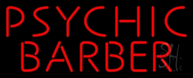 Red Psychic Barber Neon Sign
