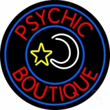 Red Psychic Boutique Neon Sign