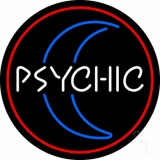 Red Psychic White Logo Neon Sign
