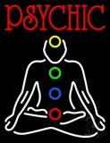 Red Psychic With Logo Neon Sign