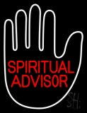 Red Spiritual Advisor With Palm Neon Sign