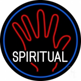Spiritual Blue Border Neon Sign