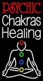 White Psychic Chakras Healing Neon Sign