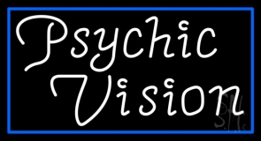 White Psychic Vision Neon Sign