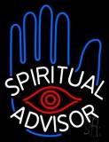 White Spiritual Advisor Neon Sign