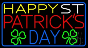 Happy St Patricks Day Neon Sign