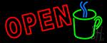 Open Coffee Mug Neon Sign