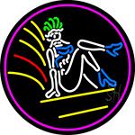 Strip Girl Logo Neon Sign