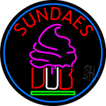 Sundaes Cone Neon Sign