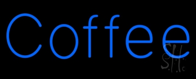 Blue Coffee Neon Sign