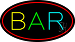 Multi Color Bar Oval Neon Sign