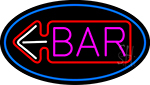 Bar With Arrow Neon Sign