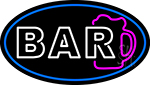 Block Bar With Beer Mug Neon Sign