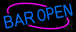 Blue Open Bar Neon Sign