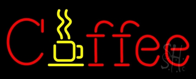 Red Coffee Neon Sign