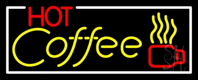Red Coffee Yellow Neon Sign
