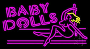 Baby Dolls Girls Strip Club Neon Sign