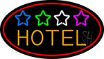 Hotel With Stars Neon Sign