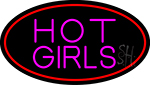 Hot Girls With Red Border Neon Sign
