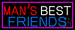 Mans Best Friend Bar With Beer Mug Neon Sign