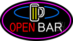 Open Bar With Beer Mug Neon Sign