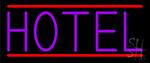 Purple Hotel Neon Sign