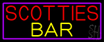 Scotties Bar With Purple Border Neon Sign