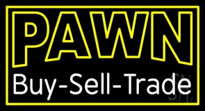 Double Stroke Pawn Buy Sell Trade Neon Sign