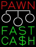 Red Pawn Fast Cash Logo Neon Sign