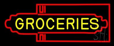 Groceries Art Deco Neon Sign