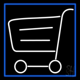 Grocery Trolly Logo Neon Sign