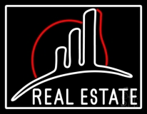 Real Estate With Logo Neon Sign