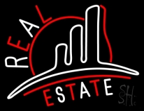 Real Estate With Logo 3 Neon Sign