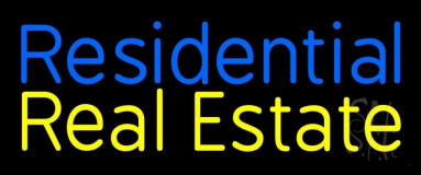 Residential Real Estate 2 Neon Sign