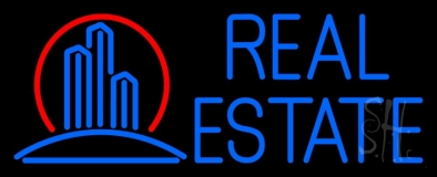 Real Estate Building Logo 1 Neon Sign