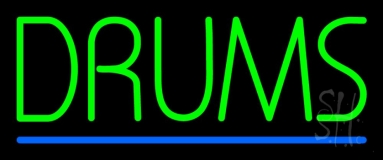 Drums Blue Line Neon Sign