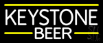 Keystone Logo Beer Neon Sign