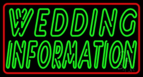 Double Stroke Wedding Information Neon Sign