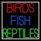 Birds Fish Reptiles Neon Sign